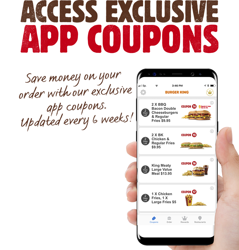 BURGER KING APP COUPONS EINLÖSEN
